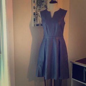 SZ 2 Limited PU Leather Dusty Violet Midi Dress